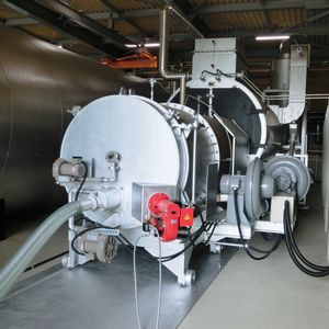 温水暖房機とバイオマスエコバーナー